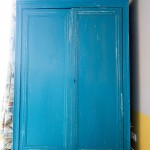 Armoire bleue Vintage